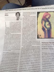 article embarassos periódico